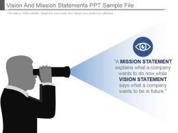Vision And Mission Statements Ppt Sample File