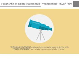 Vision And Mission Statements Presentation Powerpoint