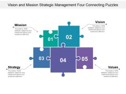 vision_and_mission_strategic_management_four_connecting_puzzles_Slide01