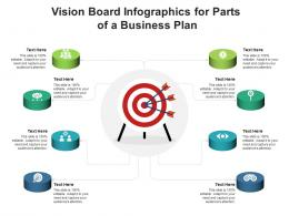 Vision Board For Parts Of A Business Plan Infographic Template