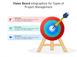 Vision Board For Types Of Project Management Infographic Template