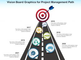 Vision Board Graphics For Project Management Path Infographic Template