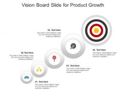 Vision Board Slide For Product Growth Infographic Template