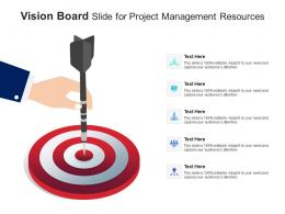 Vision Board Slide For Project Management Resources Infographic Template