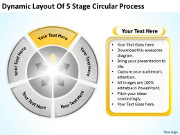 Vision Business Process Diagram Circular Powerpoint Templates PPT Backgrounds For Slides