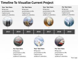 Vision Business Process Diagram Timeline To Visualize Current Project Powerpoint Templates