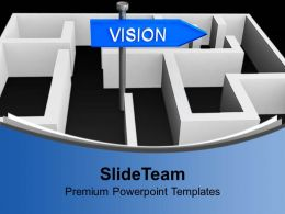 Vision Concept With Labyrinth Business Powerpoint Templates Ppt Backgrounds For Slides 0113