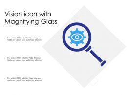 Vision Icon With Magnifying Glass