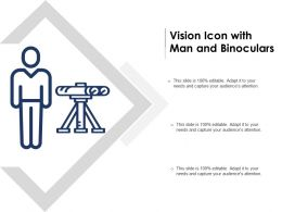 Vision Icon With Man And Binoculars