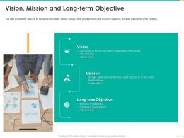 Vision Mission And Long Term Objective Employee Development Ppt Shows