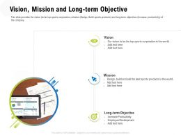 Vision Mission And Long Term Objective M3339 Ppt Powerpoint Presentation Gallery Slides
