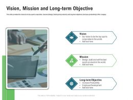 Vision Mission And Long Term Objective M3374 Ppt Powerpoint Presentation Summary