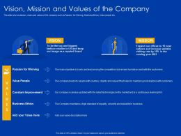 Vision Mission And Values Of The Company Courtesy Treats Powerpoint Presentation Tips
