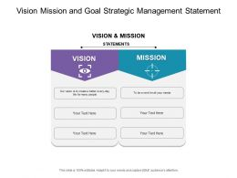 Vision Mission And Values Strategic Management In Hexagon Graphics