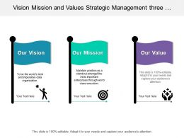 Vision Mission And Values Strategic Management Three