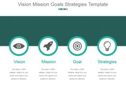 Vision Mission Goals Strategies Template Powerpoint Slide Deck