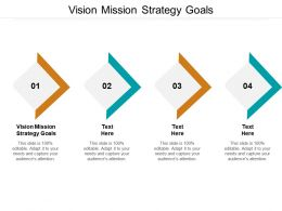 Vision Mission Strategy Goals Ppt Powerpoint Presentation Pictures Graphics Template Cpb