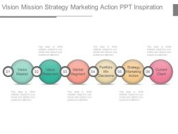 Vision Mission Strategy Marketing Action Ppt Inspiration