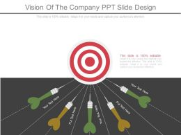 Vision Of The Company Ppt Slide Design