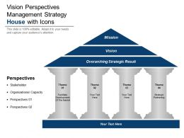 Vision Perspectives Management Strategy House With Icons