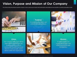 Vision Purpose And Mission Of Our Company Consulting Ppt Inspiration