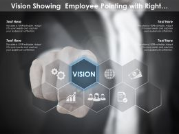 Vision Showing Employee Pointing With Right Direction