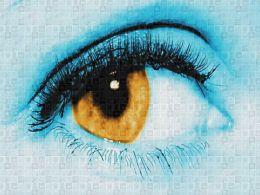 Vision Slide Photo Mosaic Human Eye Collage Ppt Inspiration