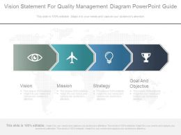 Vision Statement For Quality Management Diagram Powerpoint Guide