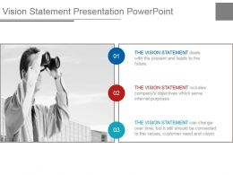Vision Statement Presentation Powerpoint
