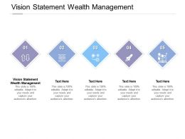 Vision Statement Wealth Management Ppt Powerpoint Presentation Icon Display Cpb