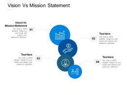 Vision Vs Mission Statement Ppt Powerpoint Presentation Summary Example Topics Cpb