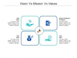 Vision Vs Mission Vs Values Ppt Powerpoint Presentation Show Deck Cpb
