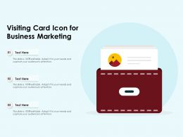 Visiting Card Icon For Business Marketing