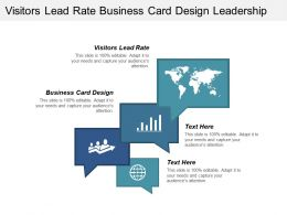 Visitors Lead Rate Business Card Design Leadership Qualities Cpb