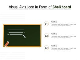 Visual Aids Icon In Form Of Chalkboard