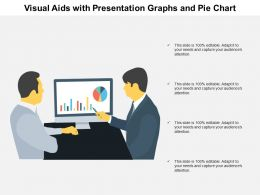 Visual Aids With Presentation Graphs And Pie Chart