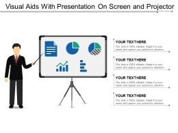 Visual Aids With Presentation On Screen And Projector