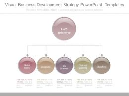 Visual Business Development Strategy Powerpoint Templates