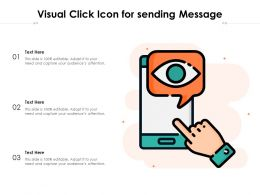 Visual Click Icon For Sending Message