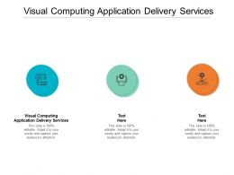 Visual Computing Application Delivery Services Ppt Pictures Background Image Cpb