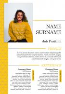 Visual CV Design With Education And Work Experience