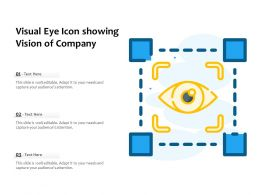 Visual Eye Icon Showing Vision Of Company