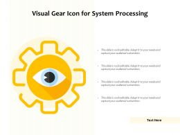 Visual Gear Icon For System Processing