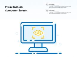 Visual Icon On Computer Screen