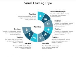 Visual Learning Style Ppt Powerpoint Presentation Professional Portfolio Cpb