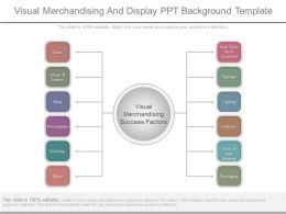 Visual Merchandising And Display Ppt Background Template
