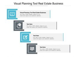 Visual Planning Tool Real Estate Business Ppt Powerpoint Presentation Infographic Template Cpb