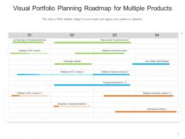 Visual Portfolio Planning Roadmap For Multiple Products