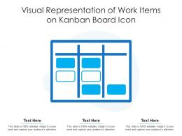 Visual Representation Of Work Items On Kanban Board Icon