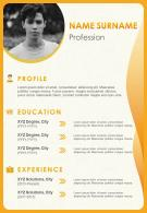 Visual Resume Design For Job Application CV Template